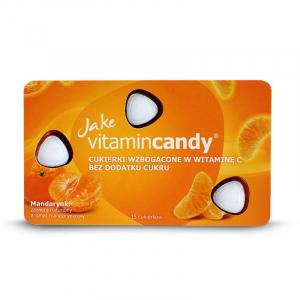 Drajeuri fara zahar VitaminCandy cu Vitamina C si gust de mandarine, 18 g0