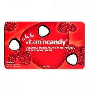 Drajeuri fara zahar VitaminCandy cu Vitamina C si gust de zmeura, 18 g0