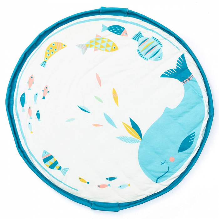 Saltea de joaca bebe si rucsac portabil 3 in 1 Play&Go cu print Moulin Roty Olga [0]