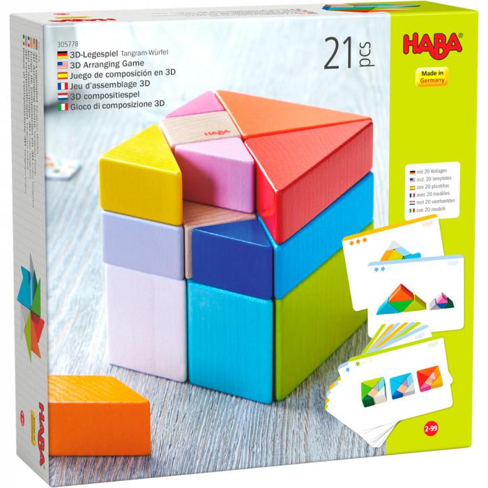 Joc 3D creativitate cub tangram, Haba 0