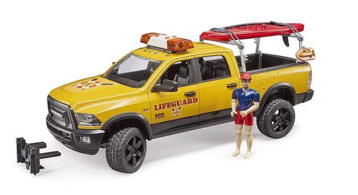 Jucarie RAM 2500 de salvamar cu figurina, paddle board si modul lumini si sunet, Bruder [1]