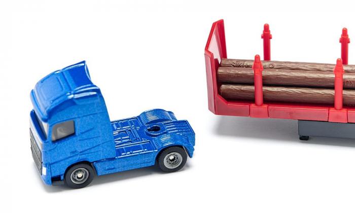 Jucarie macheta camion transporter busteni, Siku [2]