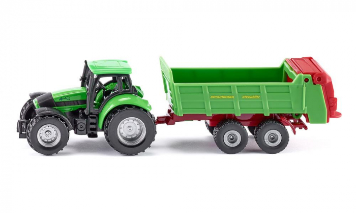 Jucarie macheta tractor pentru pregatirea campurilor cu remorca, Siku [0]