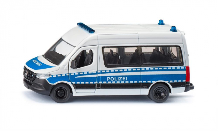 Jucarie macheta masina de politie Mercedes-Benz Sprinter, Siku [0]