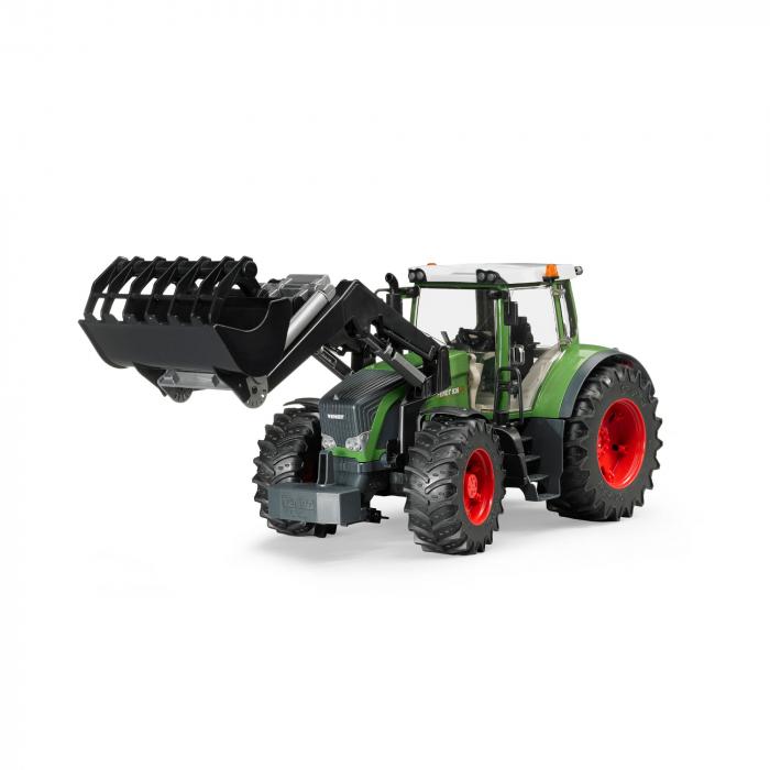 Jucarie Tractor Fendt 936 verde cu incarcator frontal, Bruder 0