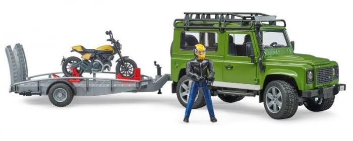 Land Rover+ Motocicleta Ducati+trailer de transport+ pilot 0