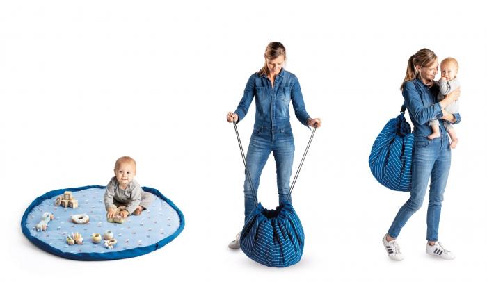 Saltea bebe 3 in 1 Play&Go  bumbac 100% imprimeu vesel [1]