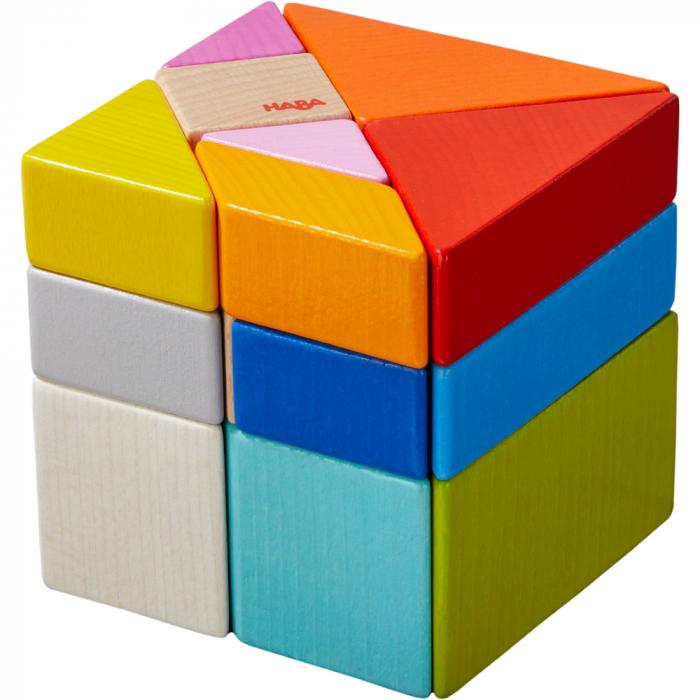 Joc 3D creativitate cub tangram, Haba 1