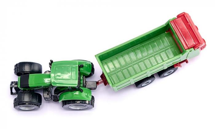 Jucarie macheta tractor pentru pregatirea campurilor cu remorca, Siku [1]