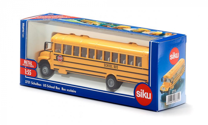 Jucarie macheta autobuz scolar, model USA, Siku [1]