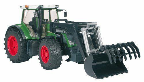 Jucarie Tractor Fendt 936 verde cu incarcator frontal, Bruder 1