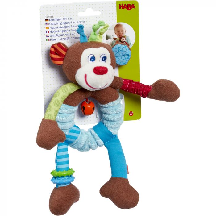 Figurina bebe de joaca maimuta Lino pentru bebe, Haba [1]
