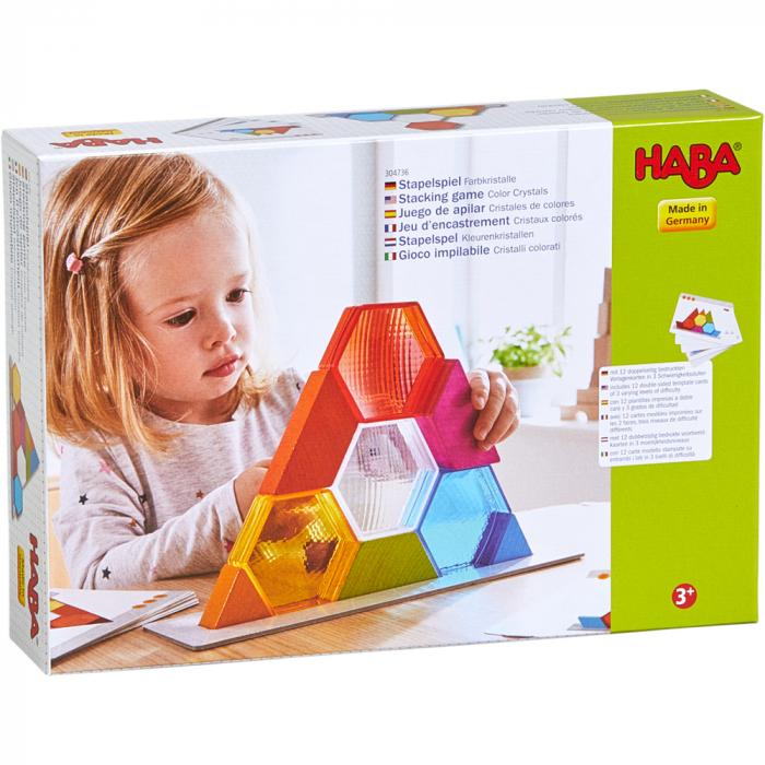 Joc de constructie cristale colorate, Haba 2