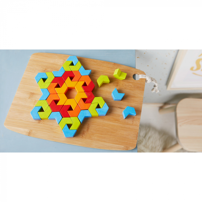 Joc de creativitate lemn Caleidoscop, Haba 1