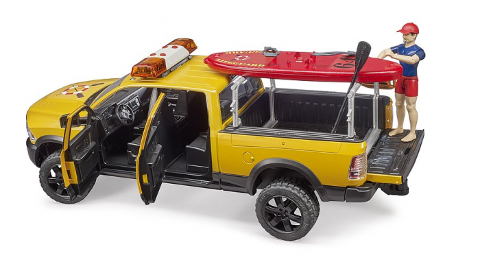 Jucarie RAM 2500 de salvamar cu figurina, paddle board si modul lumini si sunet, Bruder [2]