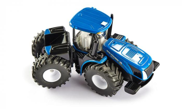 Jucarie macheta tractor New Holland cu remorca, Siku [1]