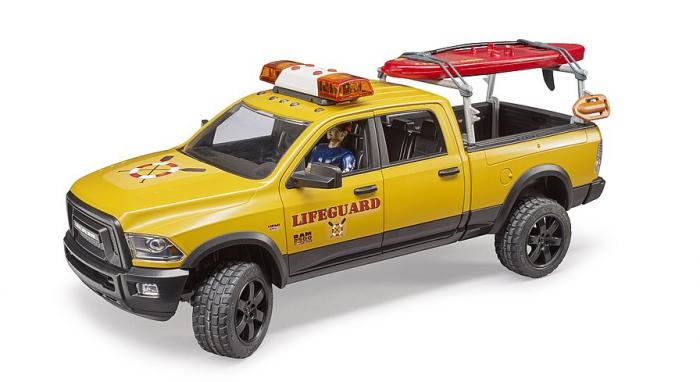 Jucarie RAM 2500 de salvamar cu figurina, paddle board si modul lumini si sunet, Bruder [3]