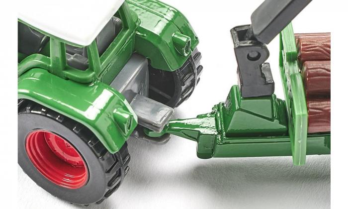 Jucarie macheta tractor forestier cu remorca, Siku [3]