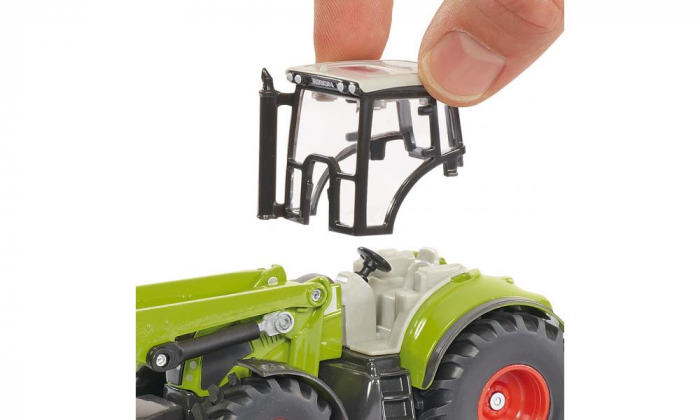 Jucarie macheta tractor Claas Axion cu incarcator frontal si basculanta, Siku [3]