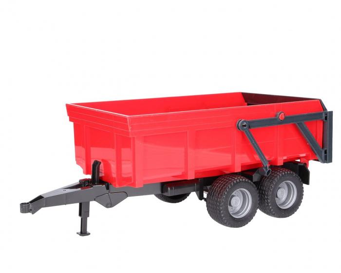 Tractor John Deere 6920 verde cu remorca basculanta rosie, Bruder 3