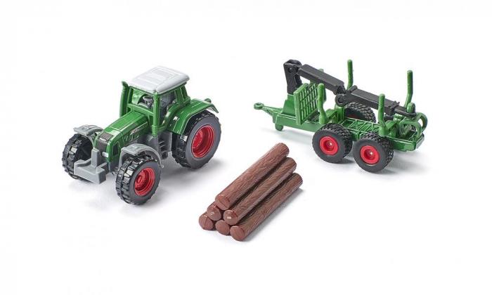 Jucarie macheta tractor forestier cu remorca, Siku [4]