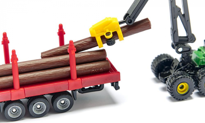 Jucarie macheta camion transporter busteni, Siku [4]