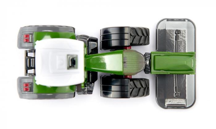 Jucarie macheta tractor Fendt 2020 942 Vario cu cositoare frontala, Siku [5]