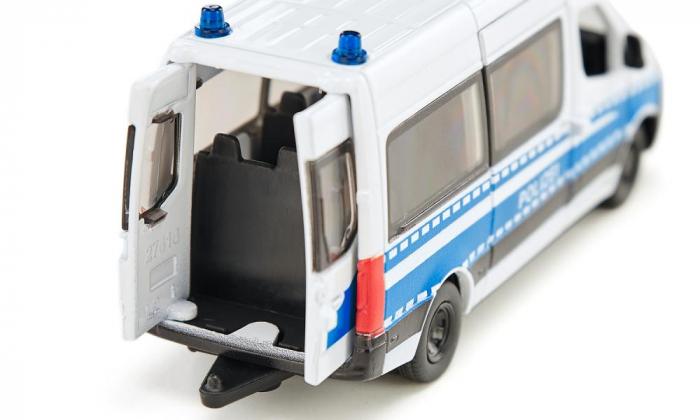 Jucarie macheta masina de politie Mercedes-Benz Sprinter, Siku [4]