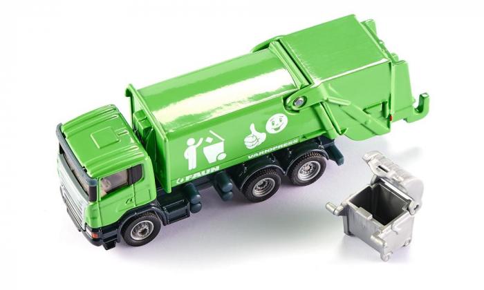 Jucarie macheta camion de recoltat gunoiul, Siku [4]