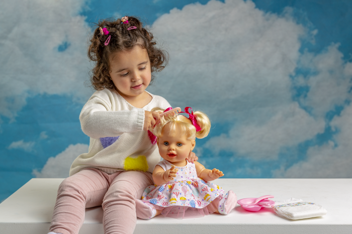 Bebelus fetita surioara Lara handmade, colectia Susu, Berjuan luxury dolls [5]