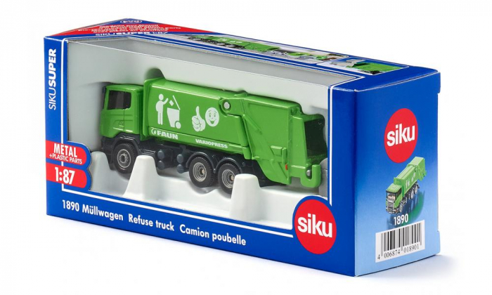 Jucarie macheta camion de recoltat gunoiul, Siku [2]