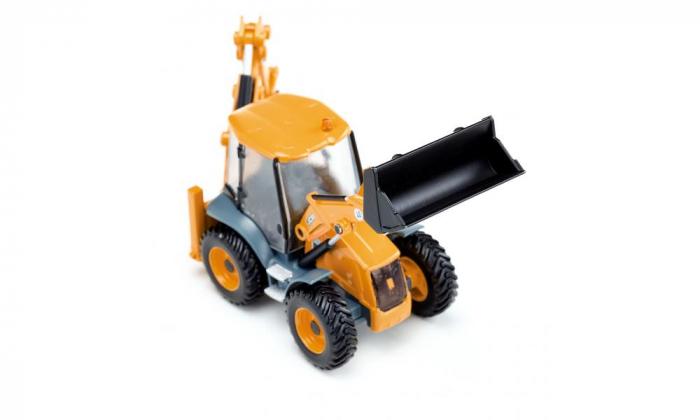 Jucarie macheta buldoexcavator JCB 4CX, Siku [1]