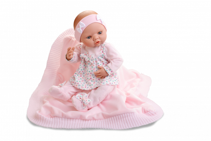 Papusa bebelus fetita Arrullo Rosa, colectia New Born Special, Berjuan handmade luxury dolls 0