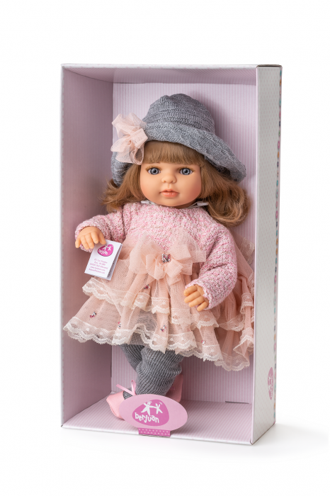 Papusa fetita Laura, colectia Boutique, Berjuan handmade luxury dolls 1