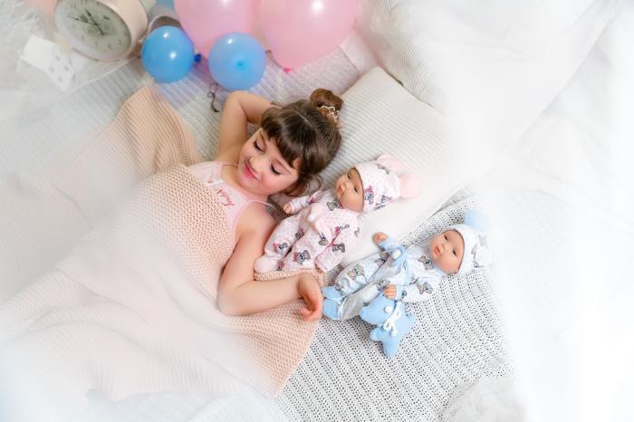 Papusa bebe fetita Rosalinda, colectia Boutique, Berjuan handmade luxury dolls 5