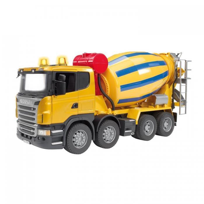 Jucarie camion betoniera galbena Scania, Bruder 0