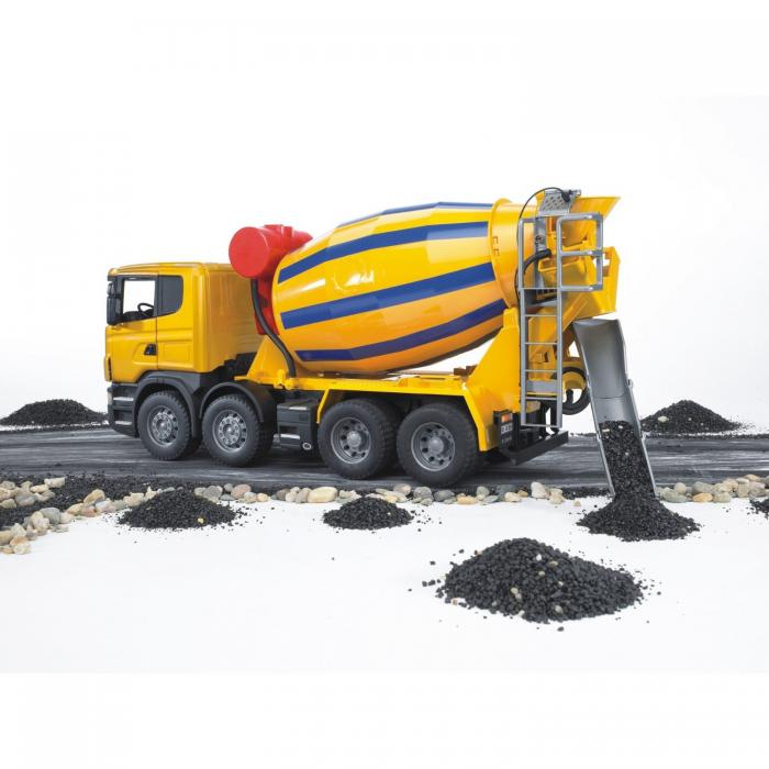 Jucarie camion betoniera galbena Scania, Bruder 1