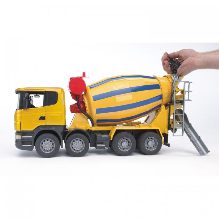 Jucarie camion betoniera galbena Scania, Bruder 2