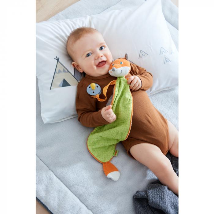 Accesoriu bebelusi vulpe cu loc de asezat suzeta, Haba 3