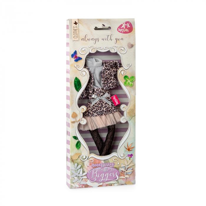 Articole vestimentare rochita cu print animal, casual, colectia The Biggers,Berjuan handmade luxury dolls 1