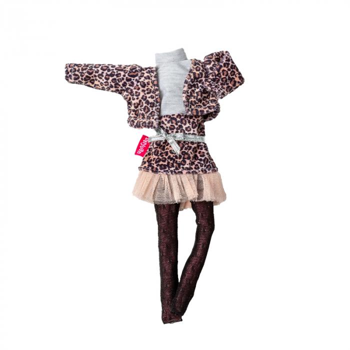 Articole vestimentare rochita cu print animal, casual, colectia The Biggers,Berjuan handmade luxury dolls 0