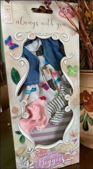 Articole vestimentare salopeta casual, colectia The Biggers,Berjuan handmade luxury dolls 1