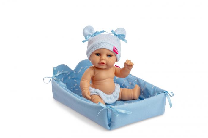 Bebelus baietel Luis handmade cu saltea, colectia Mini Baby, Berjuan luxury dolls 0