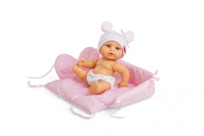 Bebelus fetita Nina handmade cu saltea, colectia Mini Baby, Berjuan luxury dolls 0