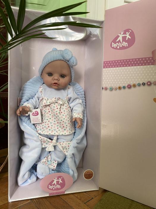 Papusa bebe Arrulo Azul, colectia New Born, Berjuan handmade luxury dolls [1]