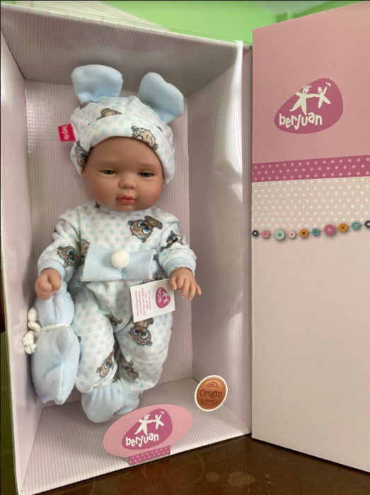 Papusa bebe baietel Azu, colectia Boutique, Berjuan handmade luxury dolls [0]