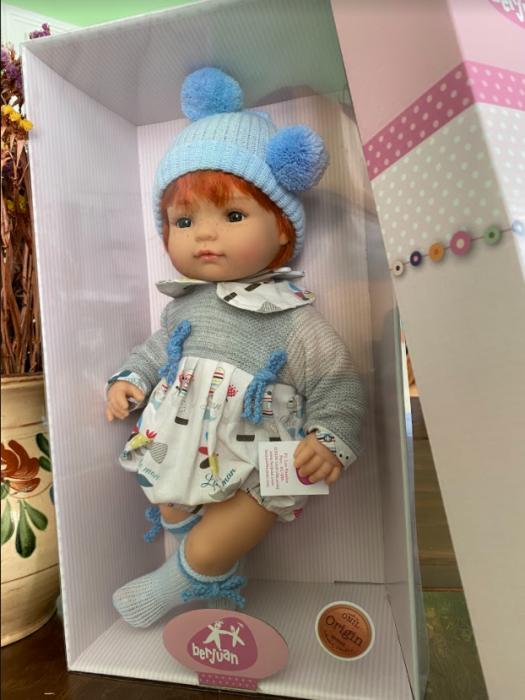 Papusa bebe baietel Mario, colectia Boutique, Berjuan handmade luxury dolls 1