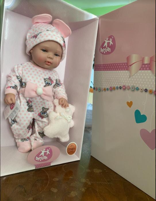 Papusa bebe fetita Rosalinda, colectia Boutique, Berjuan handmade luxury dolls 1