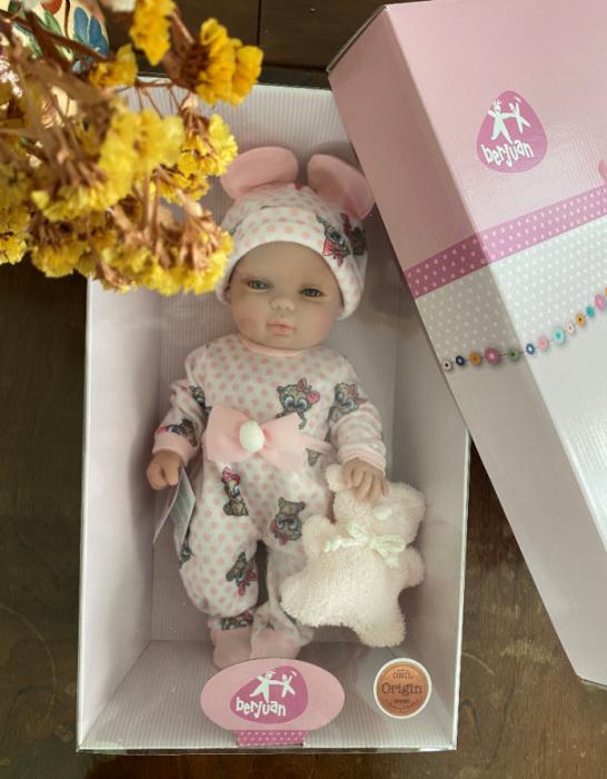 Papusa bebe fetita Rosalinda, colectia Boutique, Berjuan handmade luxury dolls 3