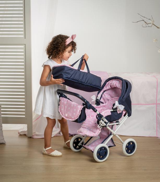 Carucior pentru papusi cu geanta si landou, colectia Nina, Berjuan luxury dolls [3]